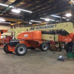 Warranty replacement of a JLG telescope cylinder.